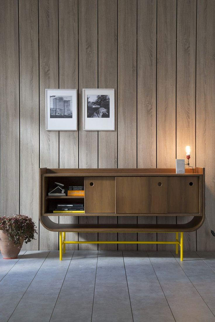 Wooden #sideboard with sliding doors VAYK Rewind Collection by Kann Design | #design Meghedi Simonian #wood @kanndesign