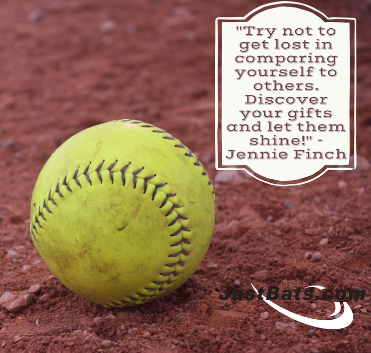 """Try not to get lost in comparing yourself to others. Discover your gifts and let them shine!"" - Jennie Finch"