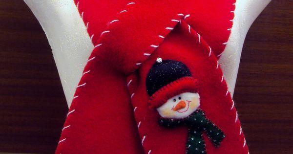 $20.000 COP Bufanda navideña hecha en fleese para niños y adultos | LENCERIA VARIOS | Pinterest | Cops and Scarfs