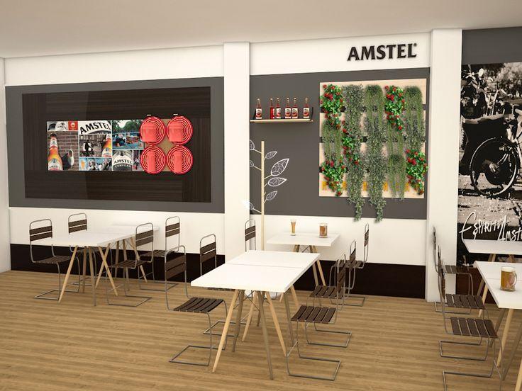 Visualización en 3D del bar Creamos imágenes para que puedas visualizar como quedaría el restyling de tu bar. #bar #restyling #diseño #3d #restaurante #retail #interiorismo #deco