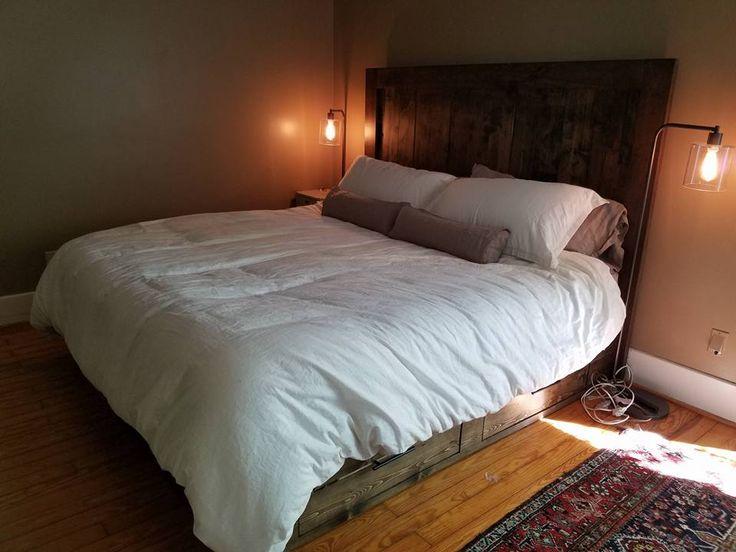 Custom Wood Platform Bed  storage functional furniture solid wood   Furniture by Brad