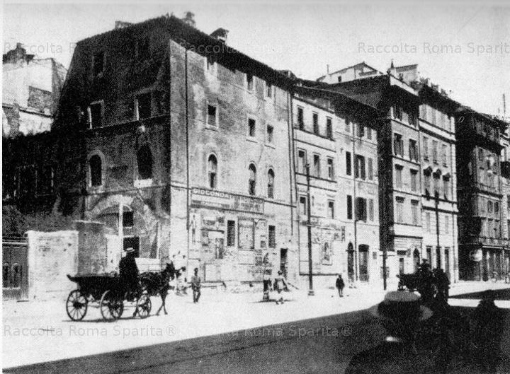 Via Arenula.Case demolite per costruire il ministero di Grazia e giustizia 1900