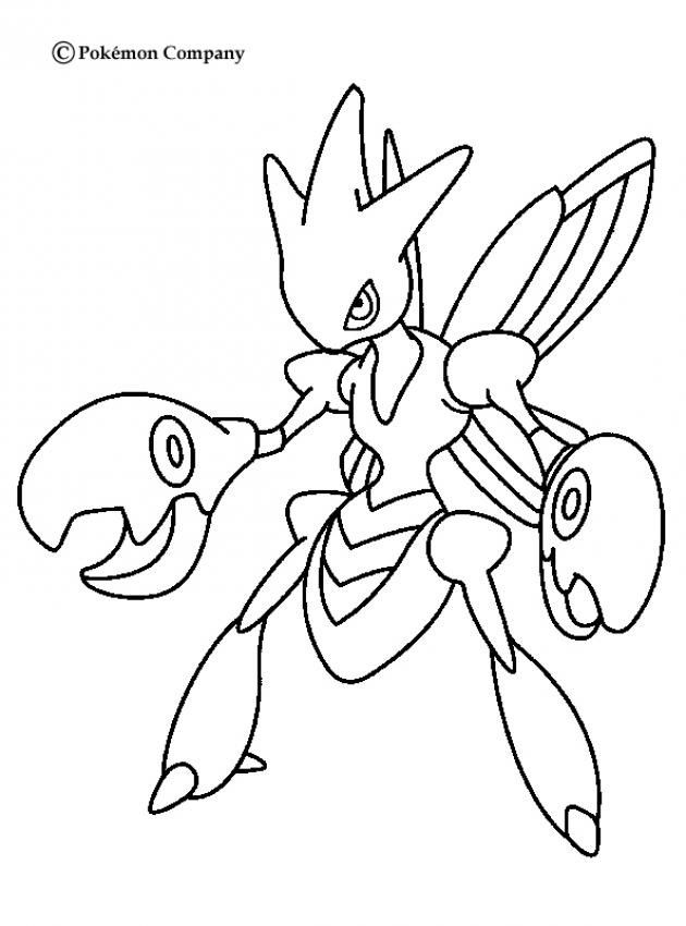 Scissor Pokemon Coloring Page Youngandtae Com Paginas Para Colorir Pokemon Para Colorir Esboco Pokemon
