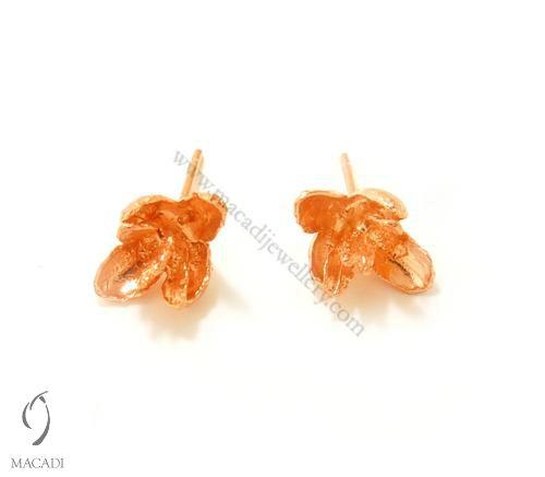 Rose Gold Plated Cedar Earrings