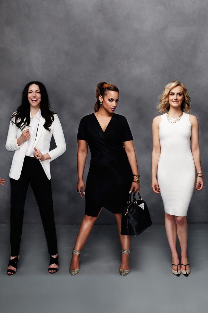 Cast members of Orange is the New Black modeling clothing from Gilt's collaboration with Dress for Success. [Courtesy Photo]