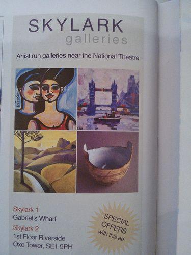 Skylark galleries offer in the National Theatre programmes OFFER