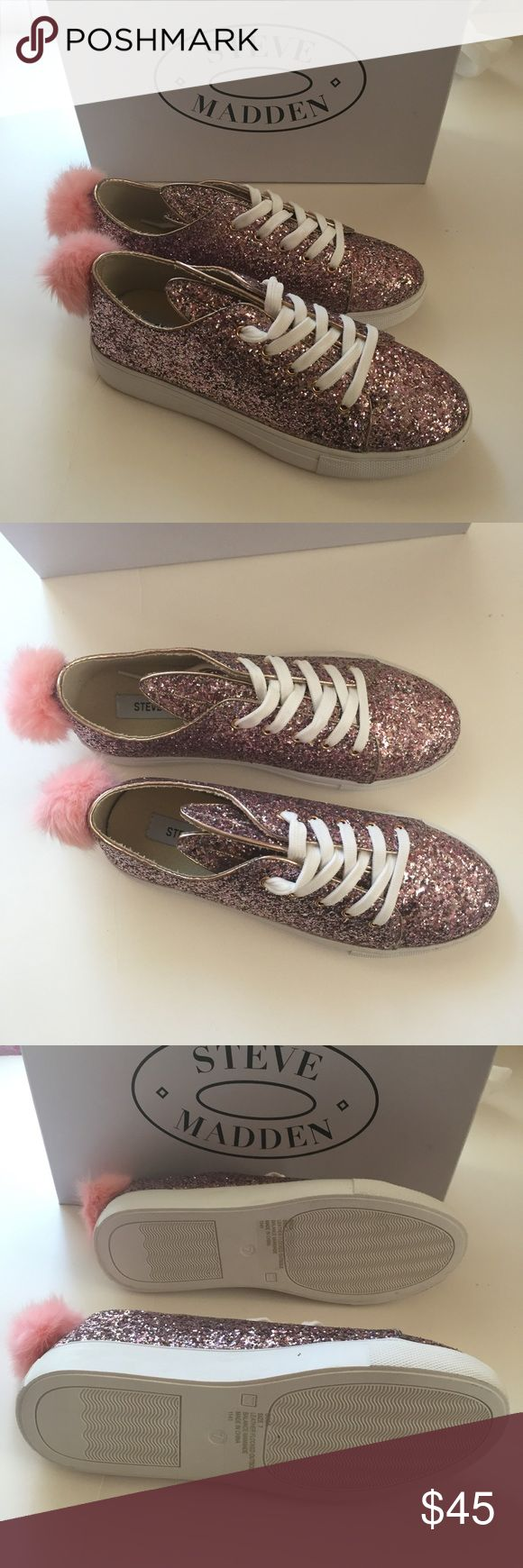 New Rare Steve Madden Bunny Shoes Size 7.0 women's Sparkly glitter Bunny Shoes by Steve Madden. Box included. Brand new. No defects. Never worn. Can be a great Christmas present! I have silver Bunny Shoes as well in a size 7.5 on my page.  #stevemadden #stevemaddenshoes #aldo #betseyjohnson #victoriassecret #vs # pink #victoriassecretpink #calvinklein #windsor #forever21 #abercrombieandfitch #hollister #americaneagle #michaelkors #coach Steve Madden Shoes Sneakers