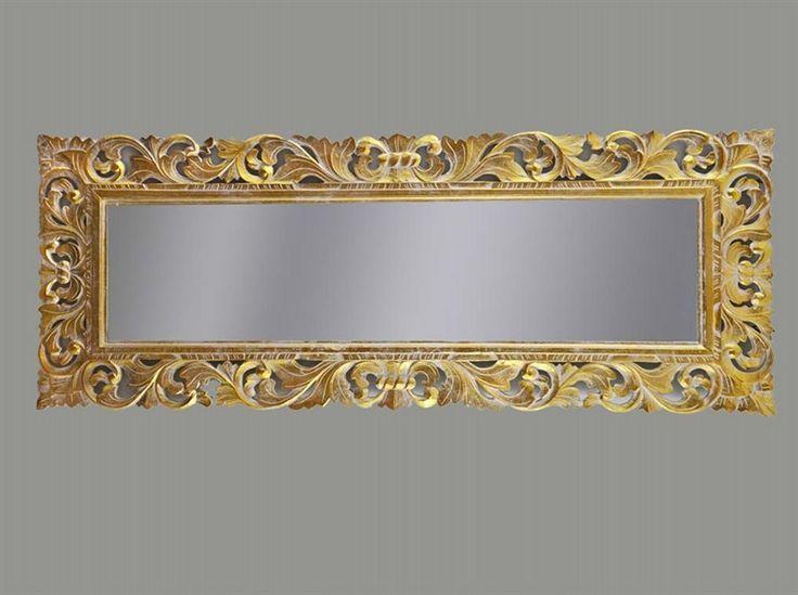 Specchio 145x55 color oro stile barocco baroque mirror for Specchio shabby chic on line