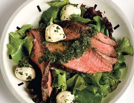 flank steak salad with chimichurri dressing recipe
