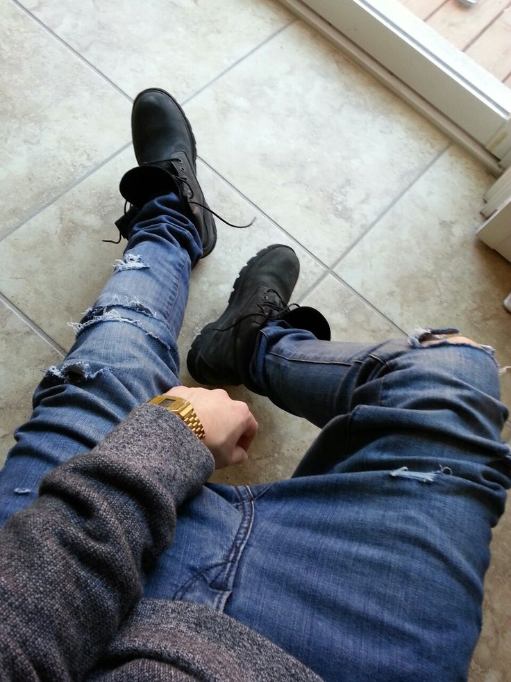Arsnvl Ripped Jeans And Timbs D O P E Pinterest