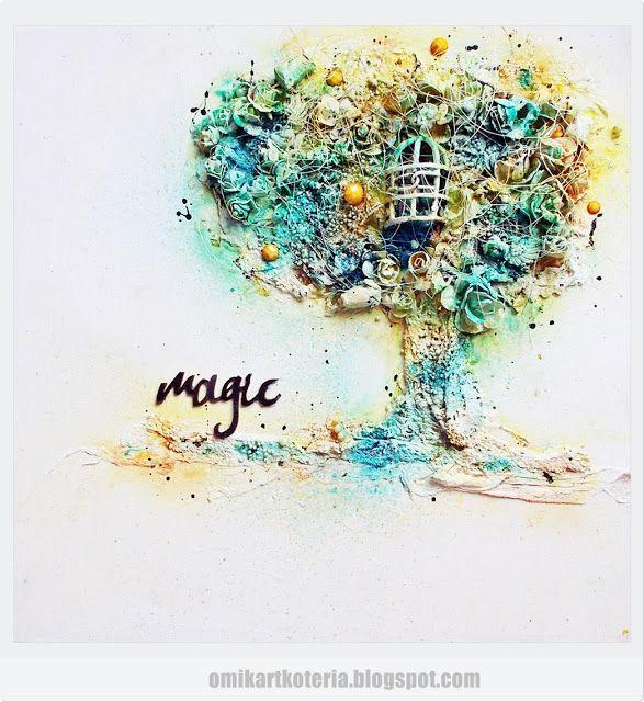 mixed media canvas by Marta Debicka