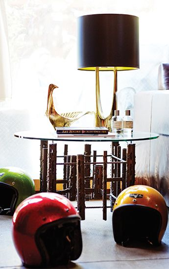 Helmuts make for decorative designs // Brent Bolthouse