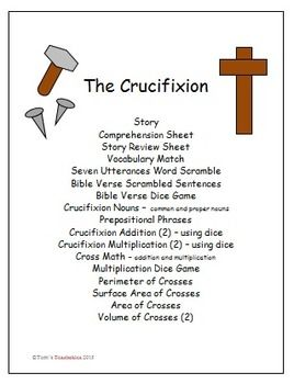 This 37 Page Set Tells The Bible Story Of Jesus And Crucifixion It Starts
