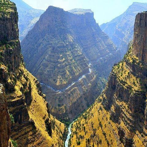 The great canyons of Gali Ali Beg. The river has found its way through the valley and formed the nature's shape. Located near Hawler city, Iraqi-Kurdistan.