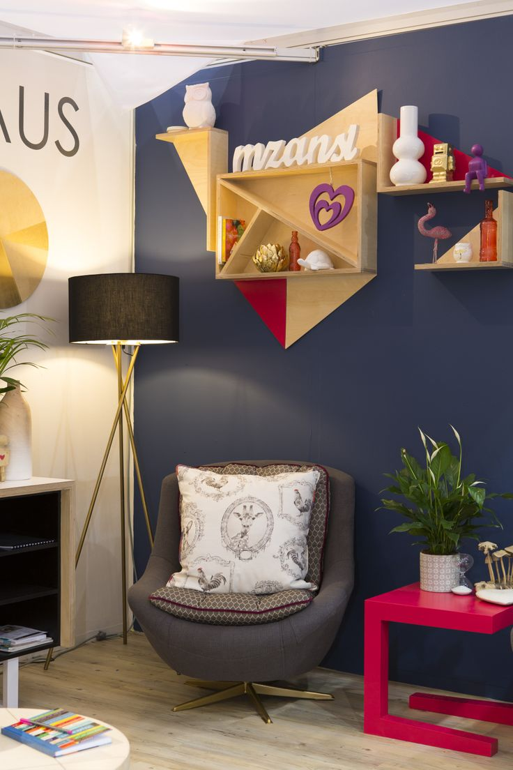 Redesign Interiors lounge setting in the Belgotex Trend House at Decorex Durban 2014