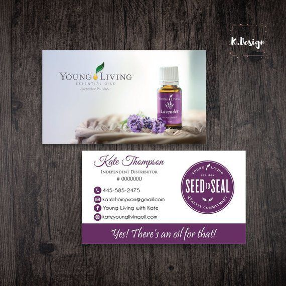 Essential Oil Business Cards Yl Business Cards Personalized Yleo