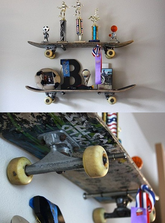 skateboard shelve..jaden would love this to put his trophies and medals on