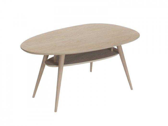sofabord med hylle - KLEPPE MØBELFABRIKK AS - Retro - Møbelringen