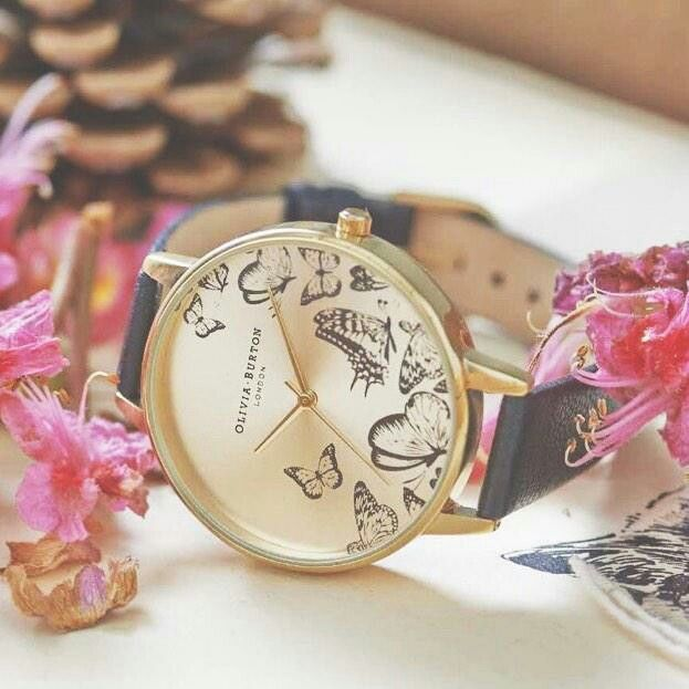 Butterfly gold watch by Olivia Burton