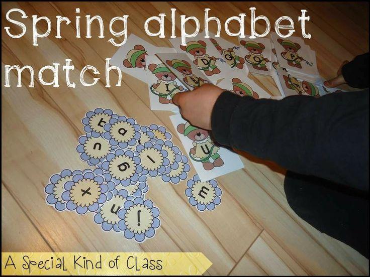 A special kind of class: Spring Alphabet Freebie