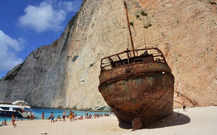 Zakynthos wreck, a famous island landmark, to be restored. (ekathimerini.com)