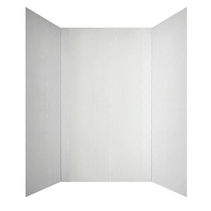 Shop MirroFlex Subway Tub & Walls White Fiberglass And