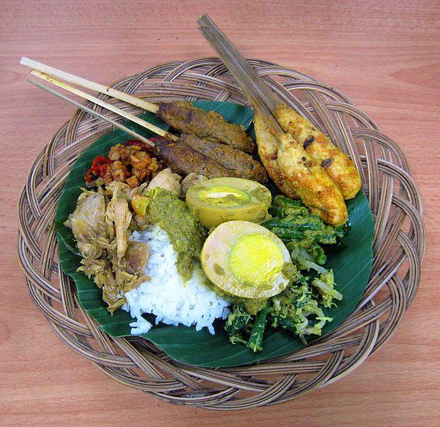 Balinese Nasi Campur (mixed rice), Indonesia - Gunkarta