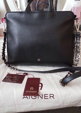 Kaufe meinen Artikel bei #Kleiderkreisel http://www.kleiderkreisel.de/damentaschen/handtaschen/147400975-etienne-aigner-tasche-abby-schwarz-leder-bags-trend