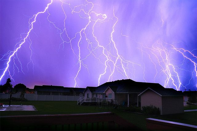 You can use a lightning map to track where the bolts are striking. photo by jaredsmith on Flickr.