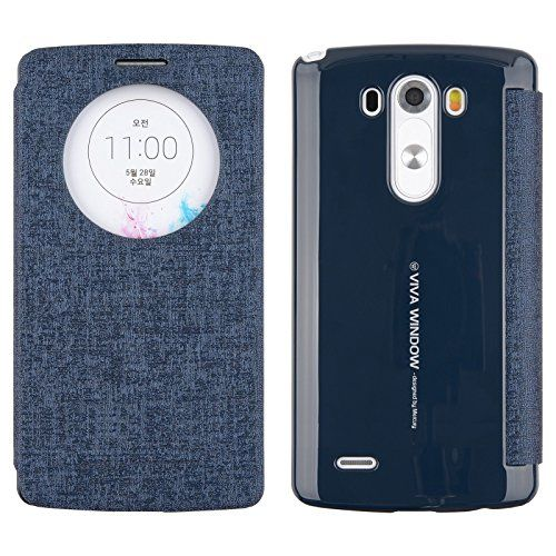 cool [Navy] Mercury Goospery Viva G3 [Quick Circle View] Slim Wallet Flip Cover Case Auto Window ON/OFF, Card Slot for LG G3 in AT&T, Sprint, T-Mobile, Verizon and International Version LG G 3