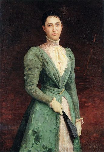 Charles Amable Lenoir Portrait of Elizabeth Gardener Bouguereau, 1895