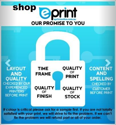 We are familiar with #digital #printing services, #graphic #design, and document printing in #Brisbane. Shop.eprintonline.com.au provides the best and instant online printing services at affordable prices with free #parking service. We also provide an in-house delivery service.