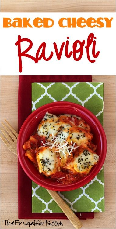Baked Cheese Ravioli Recipe! ~ from TheFrugalGirls.com ~ spoil your family this week with this cheesy dinner comfort dish! It's so EASY and absolutely delicious! #recipes #thefrugalgirls