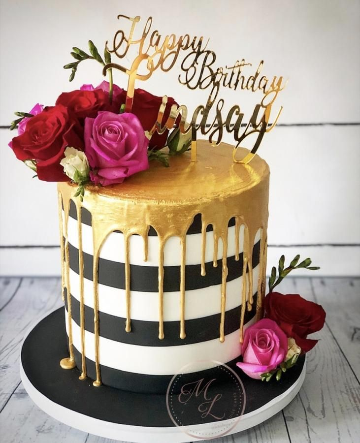 Marvelous Monochrome Drip Cake By Maria Louise Cakes With Images Elegant Funny Birthday Cards Online Alyptdamsfinfo