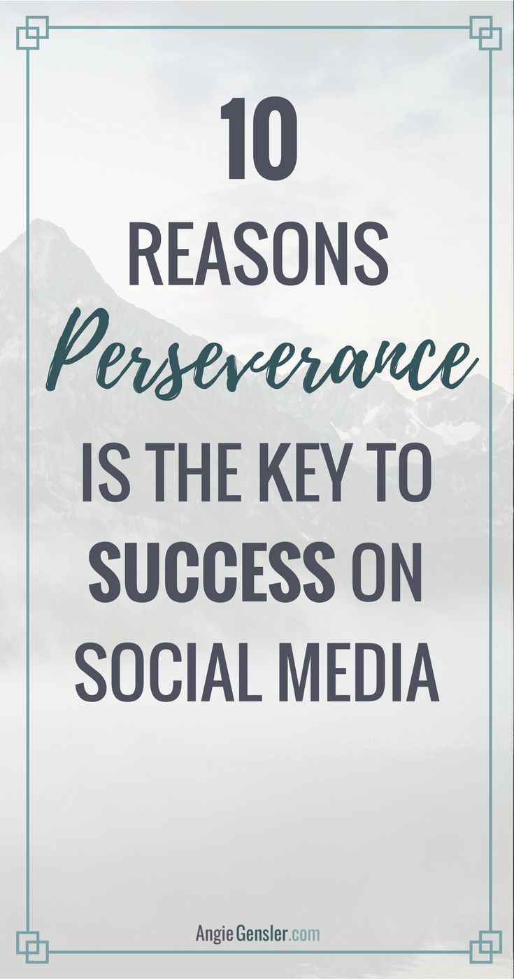 Ten reasons perseverance, not perfection, is the key to success on social media.  Social media is hard and you need perseverance, not perfection, to succeed. Perfection is just another form of fear, and fear is the enemy of success. via @angiegensler