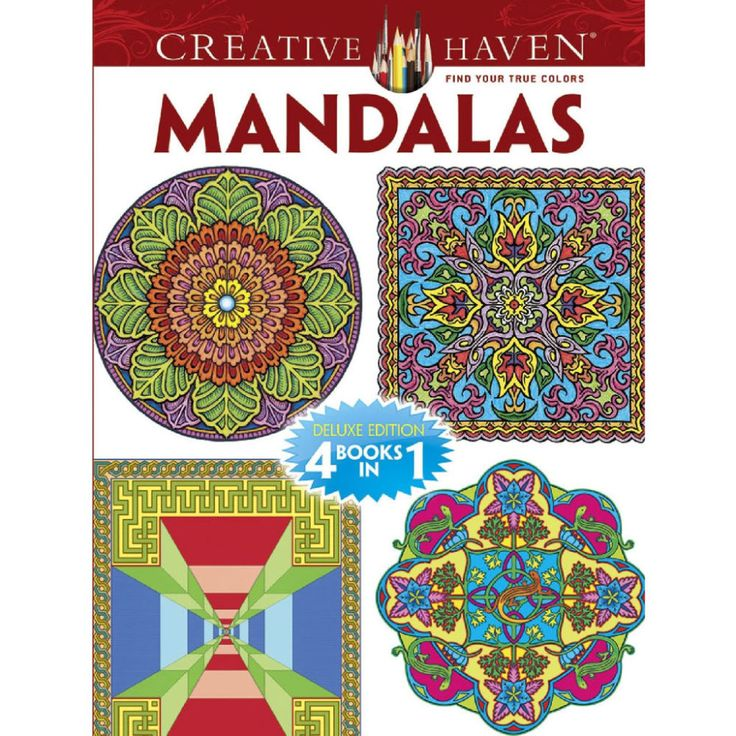 Creative HavenR Mandalas Coloring Book Deluxe Editions 4 Books In 1