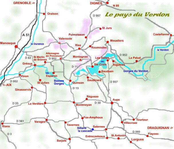 Guide touristique des Pays du Verdon et de ses Gorges du Verdon