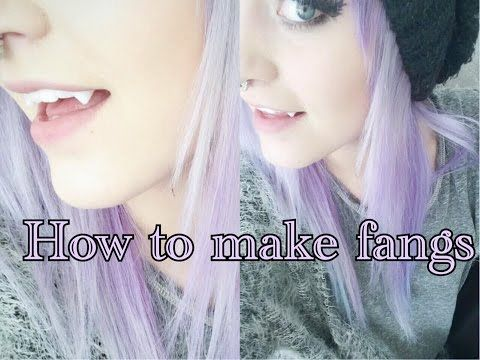 How to make your own fangs with friendly plastic tutorial | Krispuuh - YouTube                                                                                                                                                                                 More