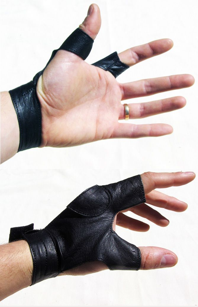 Bow hand glove; nice but need a padded area over thumb pad and part of palm for stringing at least