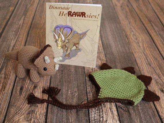 Dinosaur Gift Set  Dino Lover Gift  Dinosaur Hat  by dsgnGrl