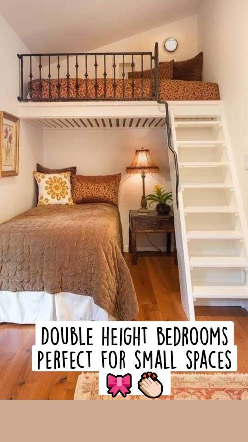Room Design Bedroom, Room Ideas Bedroom, Home Room Design, Small Room Bedroom, Home Interior Design, Bedroom Decor, Tiny Bedrooms, Unique Teen Bedrooms, Small Apartment Bedrooms
