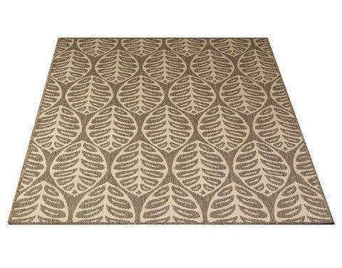 Kajo-matto, beige. Kovaa kulutusta kestävä matto, liukuestepohja, lehtikuviointi. Materiaali pölyämätöntä polypropyleeniä.
