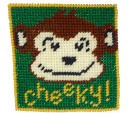 """Cheeky Monkey 4"""" tapestry Kit"""