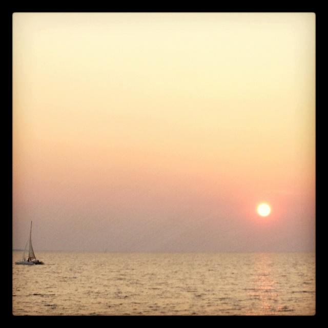 Sunset at Mindil Beach, Darwin, Australia.