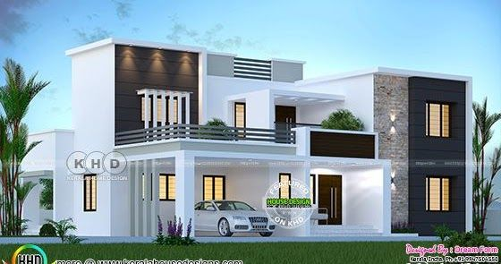 3155 Sq Ft 4 Bedroom Modern House Plan In 2020 Classic House Design Kerala House Design Simple House Design