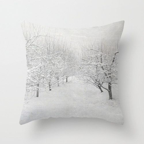 Hey, I found this really awesome Etsy listing at http://www.etsy.com/listing/157527003/pillow-cover-winter-apple-trees-pillow