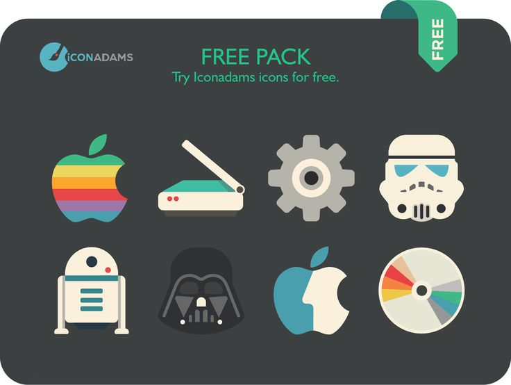 Free Pack Flat Icons 2016