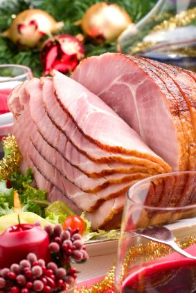 Christmas Ham always used brown sugar, pinneapple and whole cloves.