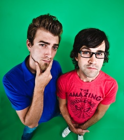 Rhett and Link, youtubers.  What can I say about them? I think I'd cry if I ever met them. I really feel like I know them. I've seen their kids grow up (Kinda).  Those they still have not shown us thier wives.