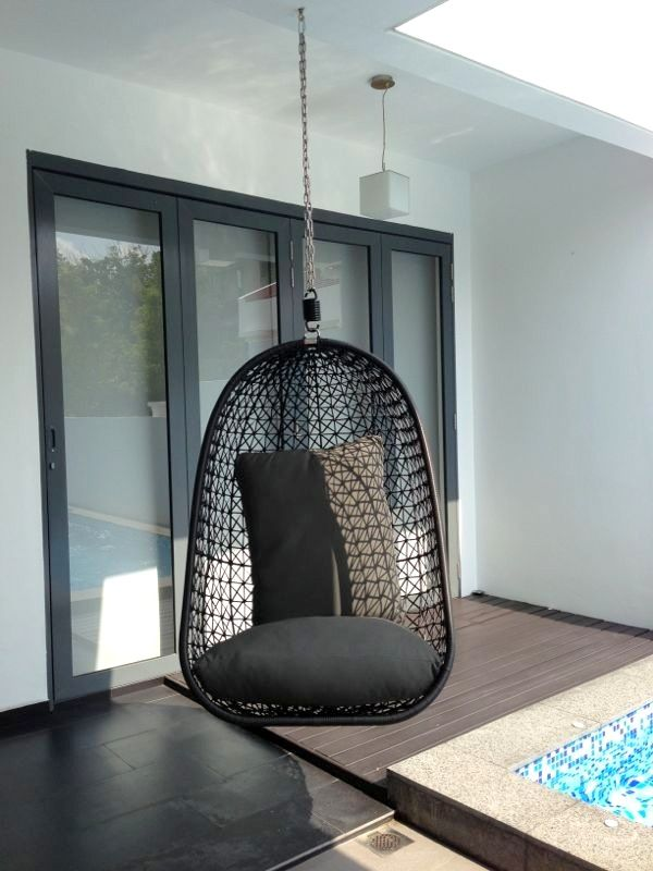 Hanging chair mount ceiling | New Home: Balcony | Pinterest